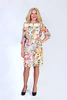 Легкое шифоновое платье с вышивкой