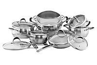 Набор посуды из нержавеющей стали Vinzer Harmony (14 пр.) 89037