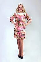 Милое шифоновое платье с вышивкой