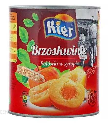 KIER «BRZOSKWINIE» персик маринованный 820 гр. Польша