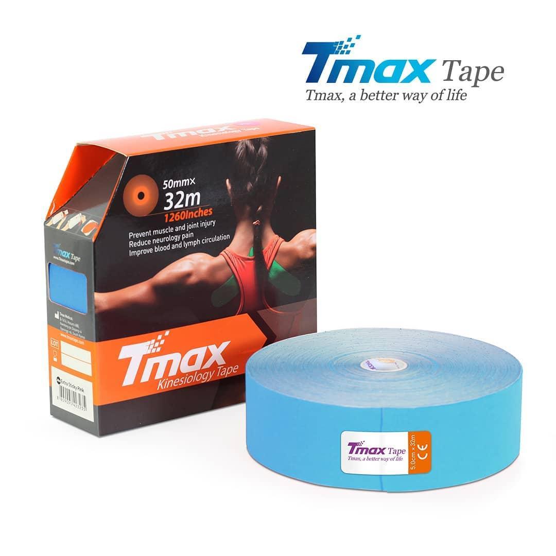 Кинезио тейп Tmax Cotton Tape X 5cm 32m (блакитний)