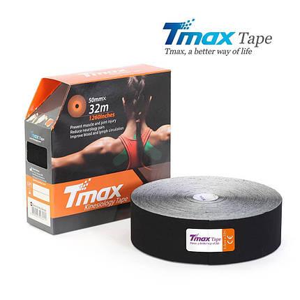 Кинезио тейп Tmax Cotton Tape X 5cm 32m (чорний), фото 2
