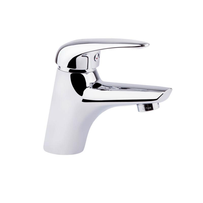 Однорычажный латунный смеситель для умывальника цвет хром Q-tap Eventi CRM 001