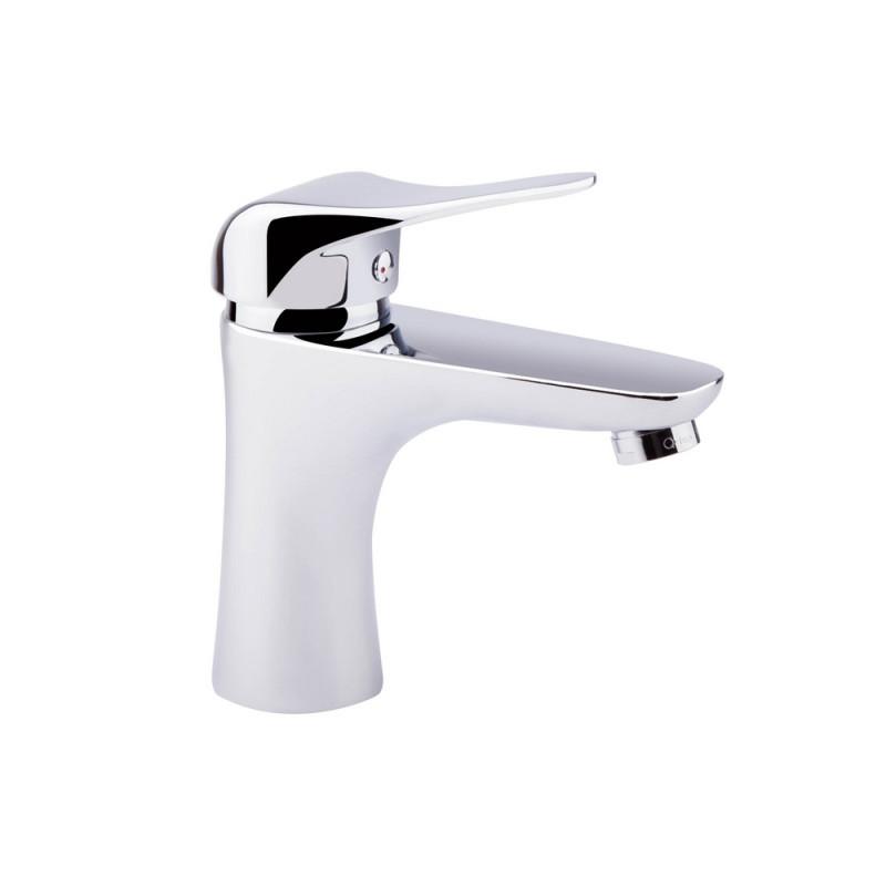 Однорычажный латунный смеситель для умывальника цвет хром Q-tap Integra CRM 001
