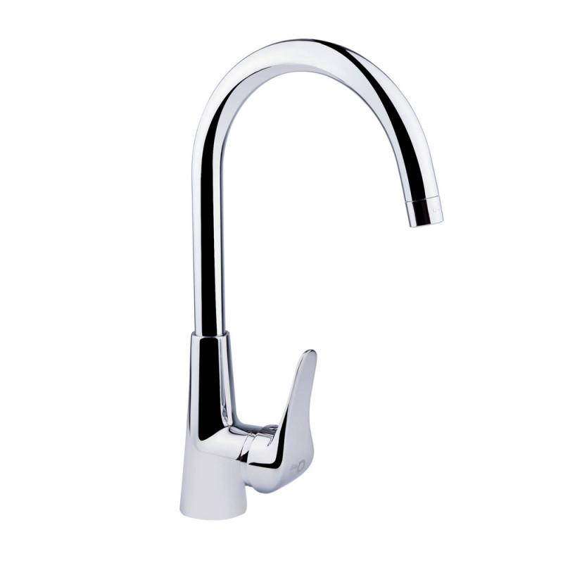 Однорычажный латунный смеситель для кухни цвет хром Q-tap Integrа CRM 007
