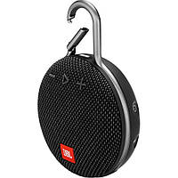 Колонка Bluetooth портативная с карабином CLIP3 Черный