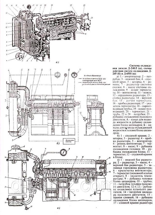 система охлаждения трактора ЮМЗ, система охлаждения трактора МТЗ, система охлаждения д 65, система охлаждения д 240, система охлаждения д 243
