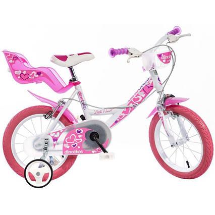 Детский велосипед Bici Dino 16 с колесиками