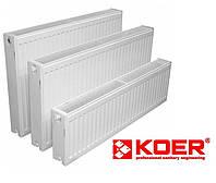 Стальной радиатор Koer 22 тип 500x1300 (боковое подключение) Чехия