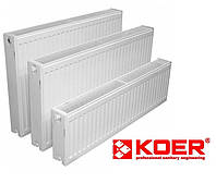 Стальной радиатор Koer 22 тип 500x400 (боковое подключение) Чехия