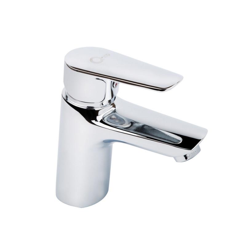 Однорычажный латунный смеситель для умывальника цвет хром Q-tap Tenso CRM 001