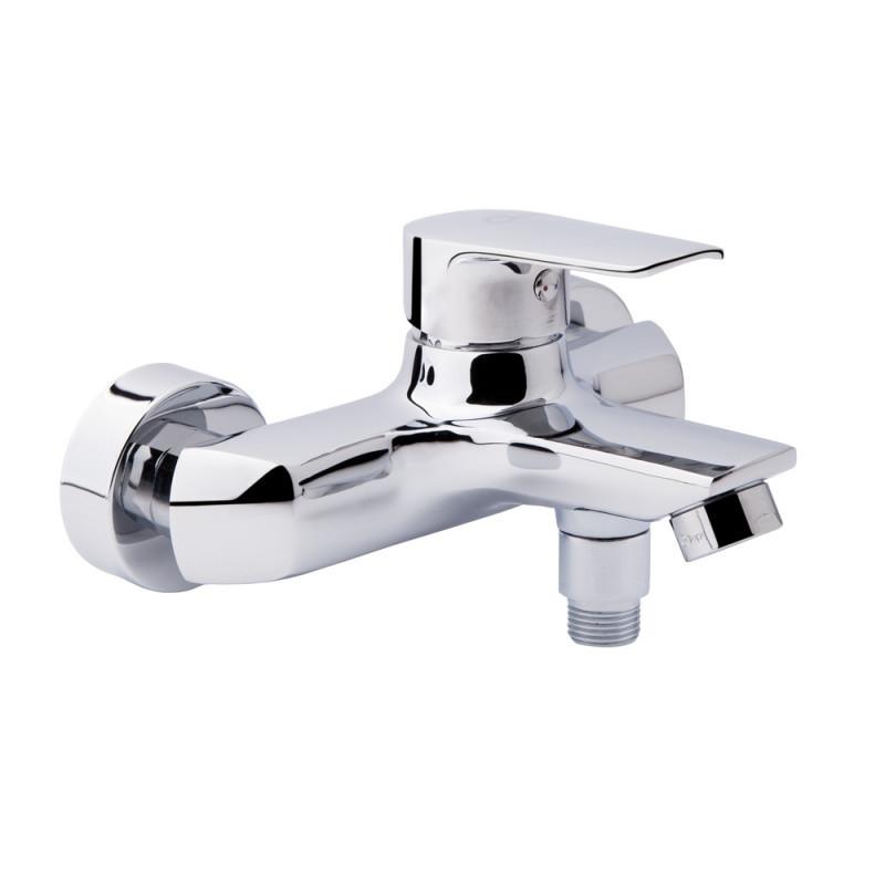 Однорычажный латунный смеситель для ванны цвет хром Q-Tap Tenso CRM 006