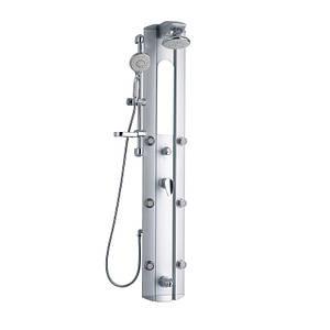 Душевая система с тропическим душем и смесителем цвет хром Q-tap 1101 SIL