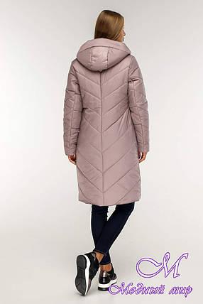 Женская зимняя куртка большого размера (р. 44-58) арт. 1143 Тон 2, фото 2