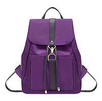 Молодежный городской рюкзак текстильный женский черный синий фиолетовый., фото 1