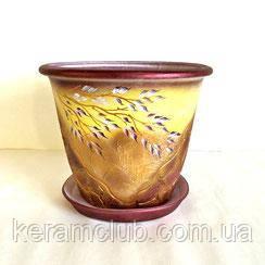 Керамічний квітковий горщик 10 л 25-31 см