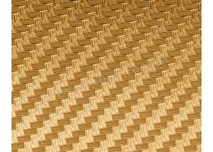 Карбоновая пленка 3D рулон 20х150 см ЗОЛОТАЯ, фото 2