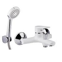 Однорычажный латунный смеситель для ванны цвет белый Q-tap Polaris WHI 006