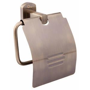 Держатель для туалетной бумаги с крышкой цвет бронза Q-tap Liberty ANT 1151