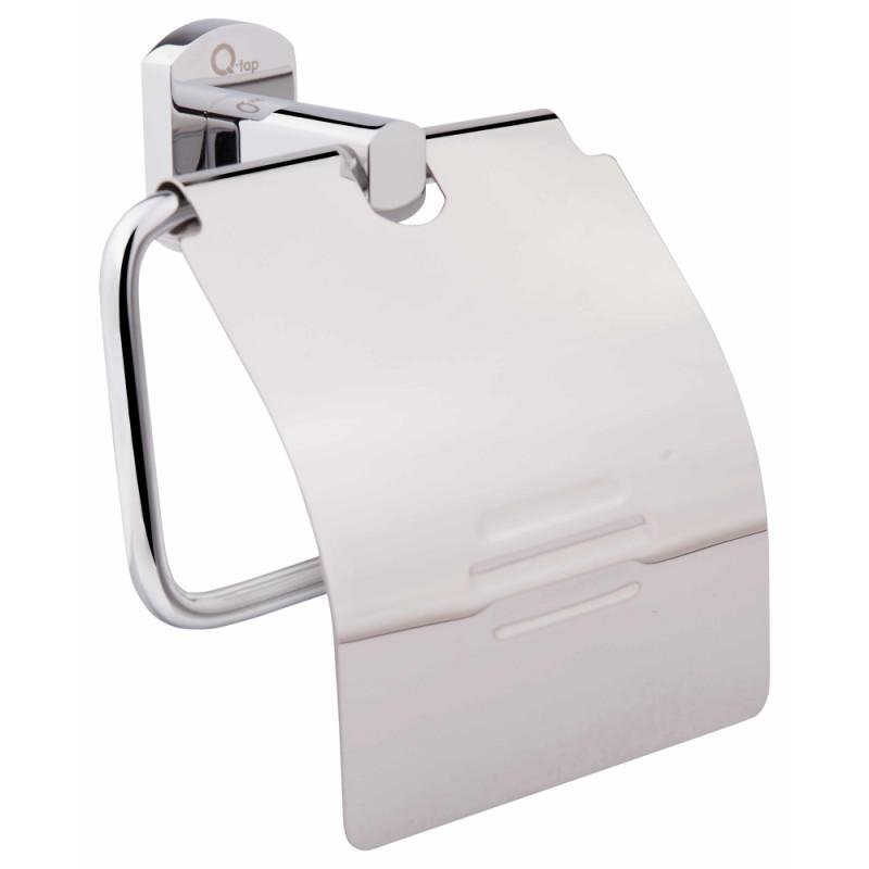 Держатель для туалетной бумаги с крышкой цвет хром Q-tap Liberty CRM 1151