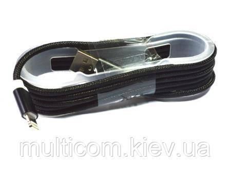 05-11-023. Шнур USB штекер А - штекер iPhone (Lightning), в сетке, 1м