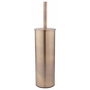 Ершик для унитаза напольный с крышкой из нержавеющей стали цвет бронза Q-tap Liberty ANT 1150