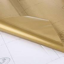 Карбонова плівка 3D рулон 50х150 см ЗОЛОТОАЯ з микроканалами, фото 3