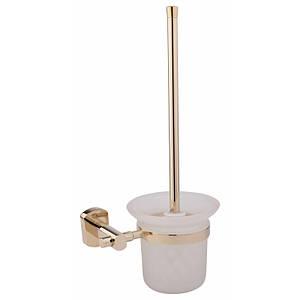 Ершик для унитаза цвет золото матовое стекло Q-tap Liberty ORO 1157