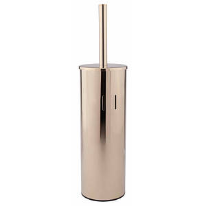 Ершик для унитаза напольный с крышкой из нержавеющей стали цвет золото Q-tap Liberty ORO 1150