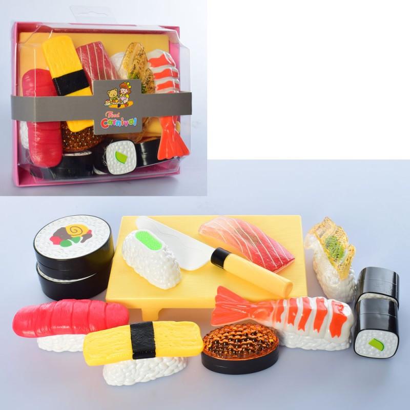 Игровой набор продуктыфастфуд суши сет 9 штук, разные цвета,228E8-5