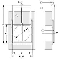 Щитовий затвор (Шандор)  D=600 мм, фото 3