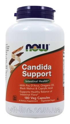 Противокандидное средство Candida Support Now Foods, 180 растительных капсул