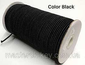Гумка капелюшна 3мм Колір чорний