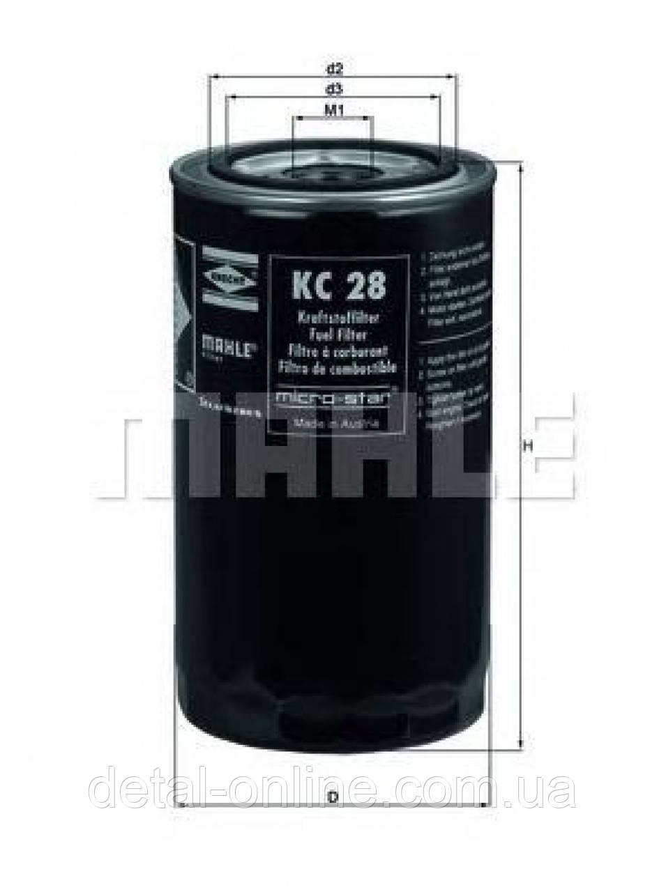 Купить KC28 Фильтр топливный (TRUCK) (пр-во Knecht Mahle)