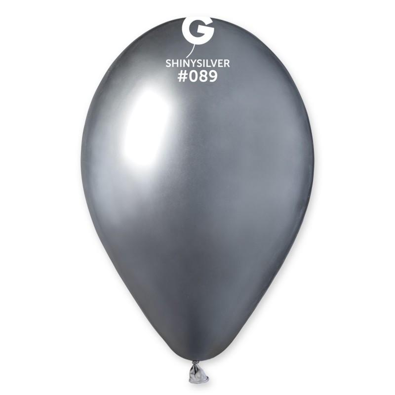 """Воздушные шары Gemar GB120-89  Хром  Серебряный 13"""" (32 СМ), 50 шт"""