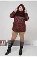 Женская куртка пиджак под кожу большого размера 50 64 размер, фото 1