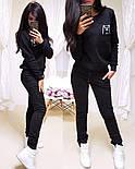 Женский спортивный костюм из трехнитки на флисе с штанами на манжетах и кофтой 1105724, фото 4