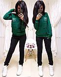 Женский спортивный костюм из трехнитки на флисе с штанами на манжетах и кофтой 1105724, фото 6