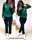 Женский утепленный спортивный костюм на флисе с мастеркой на молнии 1105725, фото 2