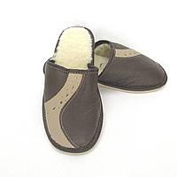 Кожаные тапочки зимние, женские ТЗЖ1