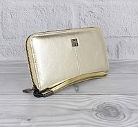 Кошелек кожаный женский на молнии золотистый Givenchy 6288, фото 1