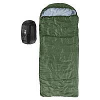 Спальник, мешок-кокон 250гр/м2, одеяло, (190+30)*85см зеленый