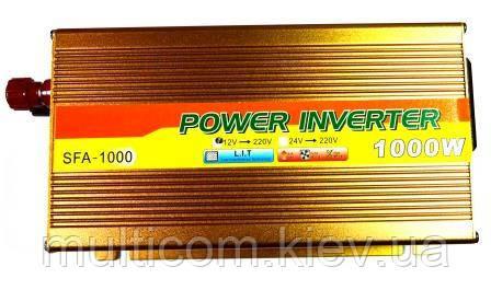 06-00-002. Інвертор c 12V в 220V Santer FAA-1000W + USB