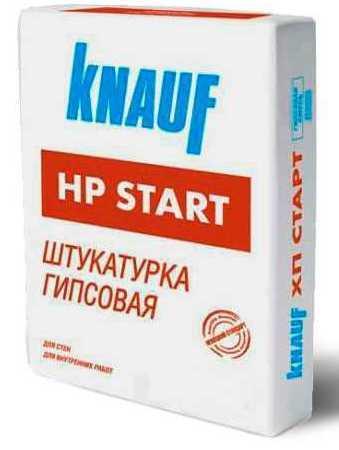 Штукатурка гіпсова Knauf HP Start, мішок 30 кг.