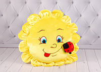"""Детская подушка """"Солнышко"""", плюшевая подушка в виде солнца"""