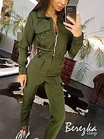 Женский костюм милитари с карго и бомбером на молнии 6610191Е, фото 1