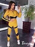 Женский брючный костюм с бомбером укороченным на молнии и штанами джоггерами 6610193Е, фото 3