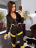 Женский брючный костюм с бомбером укороченным на молнии и штанами джоггерами 6610193Е, фото 5