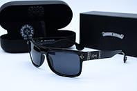 Солнцезащитные очки прямоугольные Chrome Hearts черные