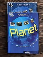 Книга и тетрадь с немецкого «Planet Kursbuch 2 А2 + Arbeitsbuch 2 A2 Hueber»